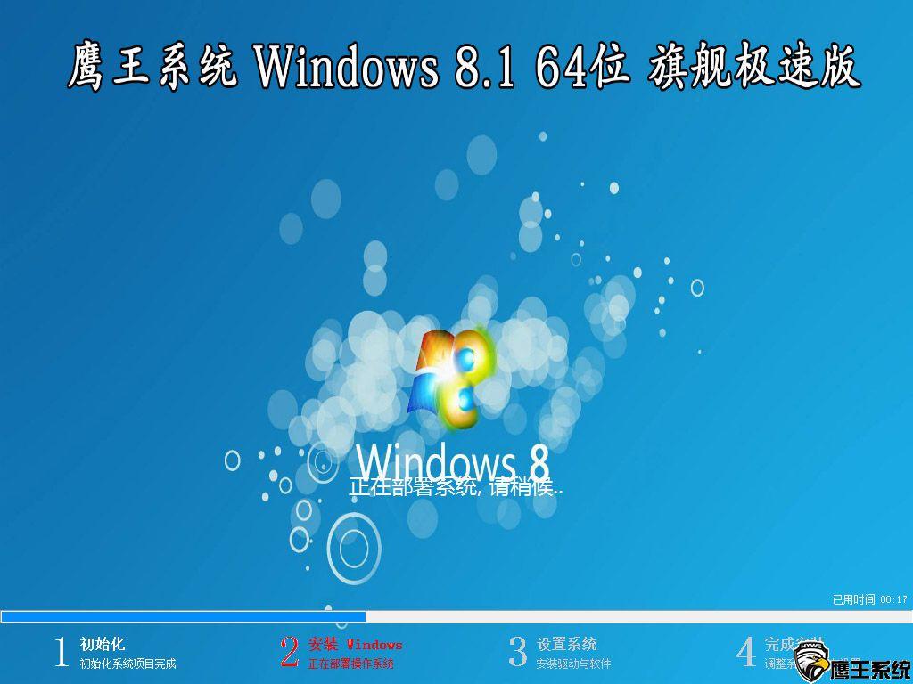 【鹰王技术系统】 Windows 8.1 64位 专业版(极速版)
